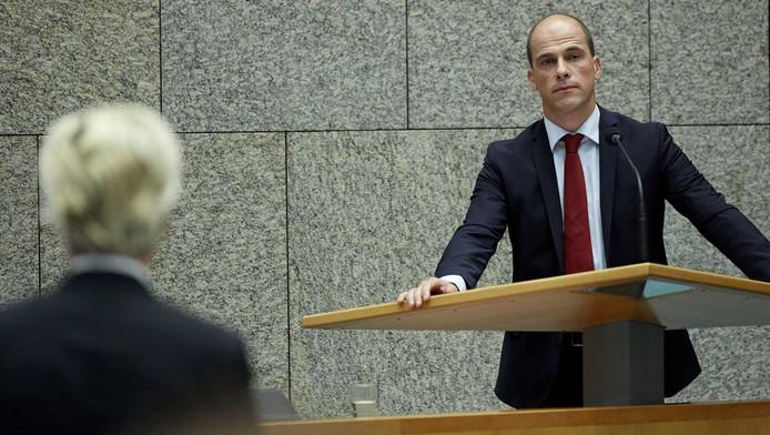 PvdA-leider Diederik Samsom (R) en PVV-leider Geert Wilders.