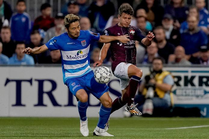 Mats Köhlert tijdens zijn debuut in de wedstrijd tegen PEC Zwolle.