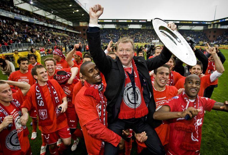 Steve McClaren maakte FC Twente in 2010 voor het eerst in de historie kampioen van Nederland. Hij komt terug als vervanger vanCo Adriaanse. Beeld EPA