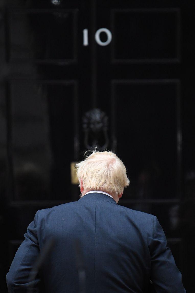Premier Boris Johnson wil hoe dan ook dat het Verenigd Koninkrijk op 31 oktober uit de EU stapt.  Beeld EPA