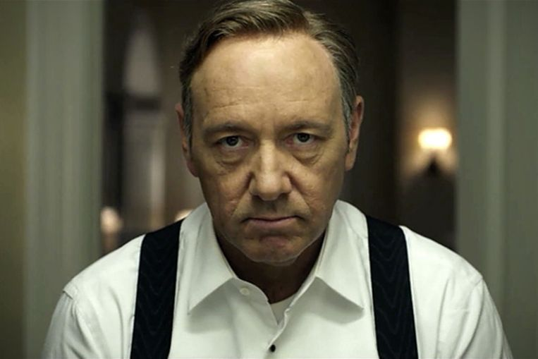 Kevin Spacey in House of Cards. Beeld