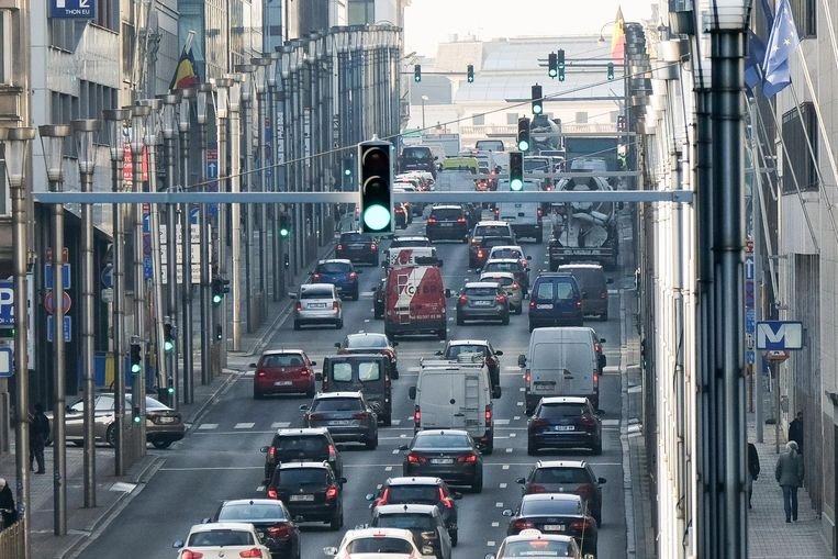 Het verkeer in de Wetstraat.