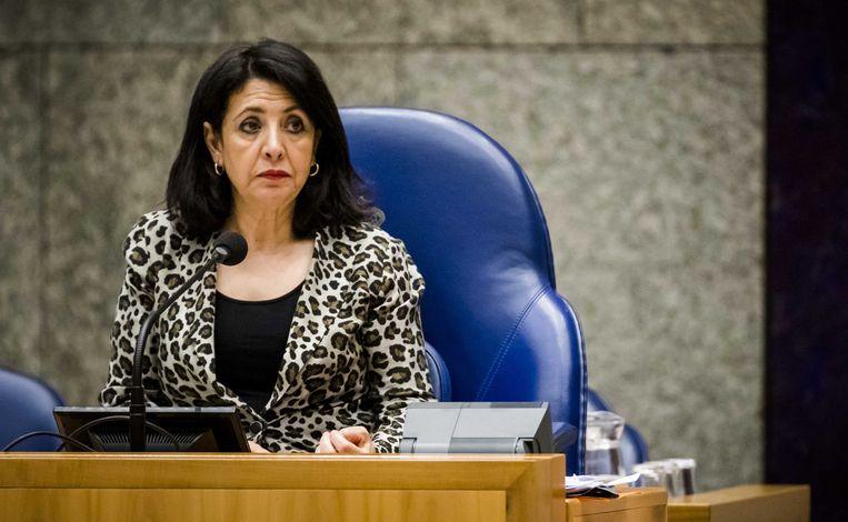 Kamervoorzitter Khadija Arib heeft het gehad met alle Kamerleden die een andere baan kiezen. Beeld ANP
