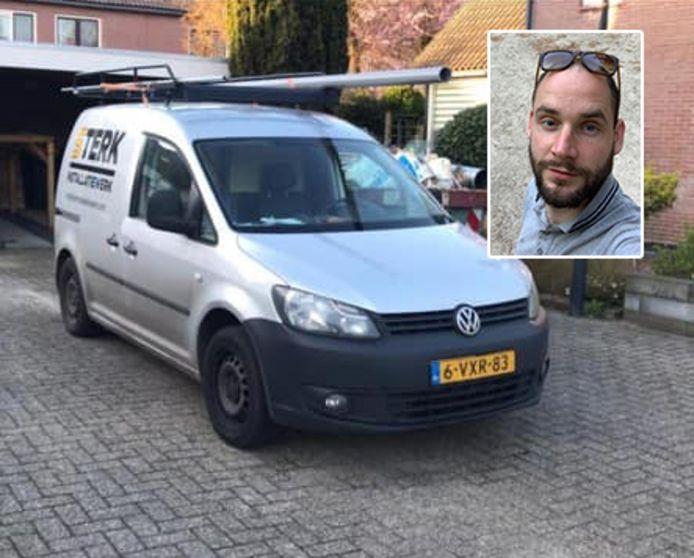 Stefans bedrijfsbus is gestolen en nu staat de ondernemer met lege handen.