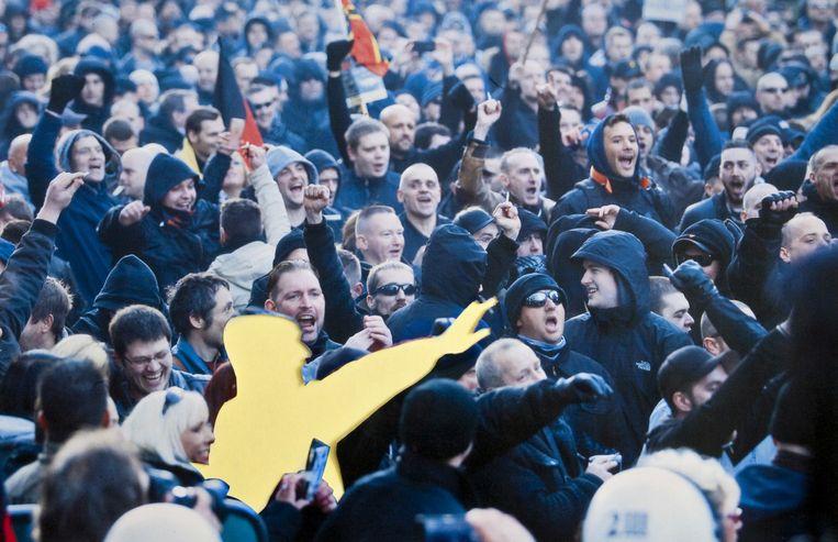 Demonstraties van anti-islambeweging Pegida in Keulen. Beeld epa