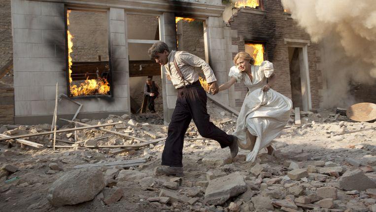 Scène uit Het Bombardement Beeld