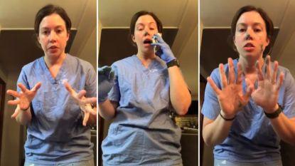 Verpleegster toont in filmpje hoe snel ziektekiemen zich kunnen verspreiden, zélfs als je handschoenen draagt