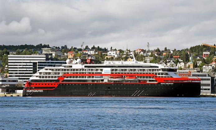 Het Noorse cruiseschip MS Roald Amundsen.