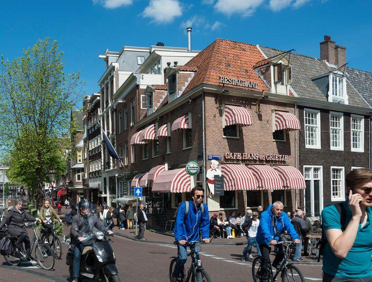 Hoek Spiegelgracht en Tweede Weteringdwarsstraat in 2019. Beeld Maarten Steenvoort