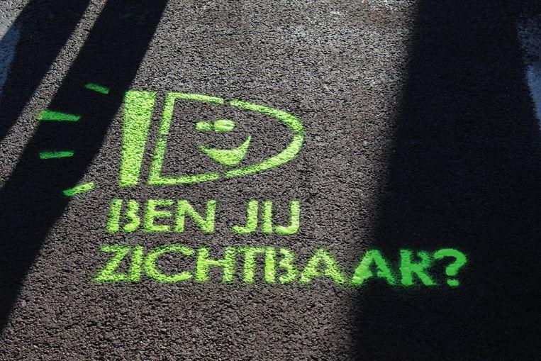 De boodschap op de fietspaden.