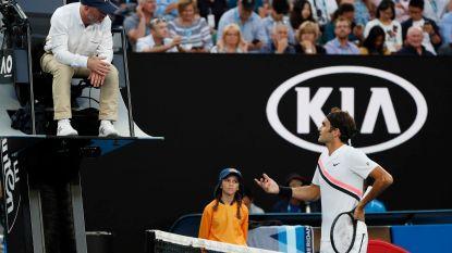 """Sweetspot Down Under: Federer trekt van leer tegen umpire: """"Voel jij je wel comfortabel bij die beslissing?"""""""