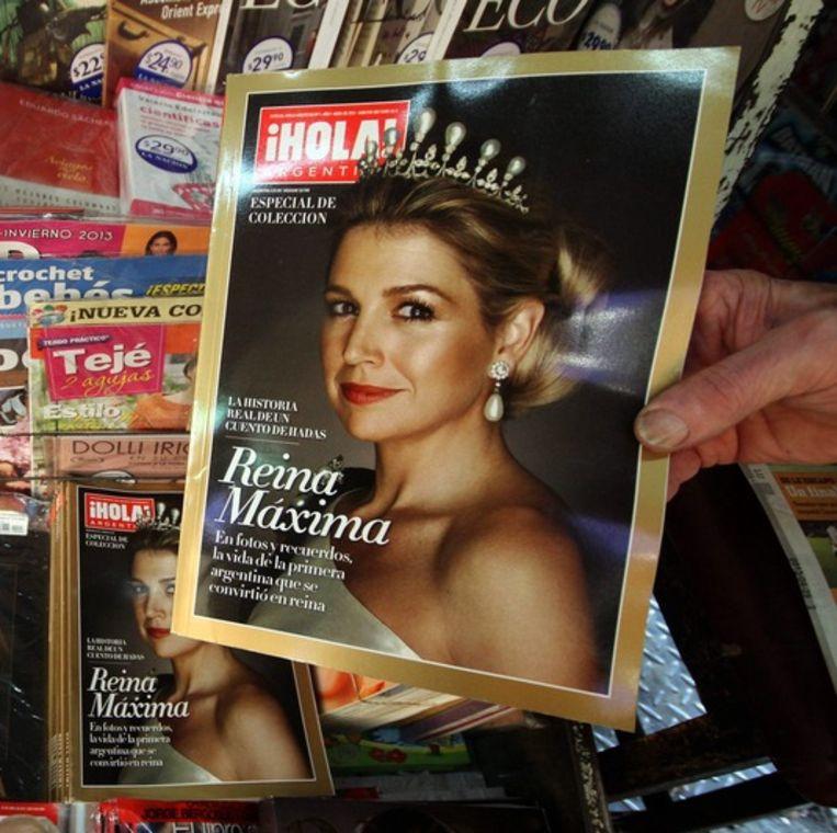 Koningin Máxima op de cover van het royaltytijdschrift Hola.