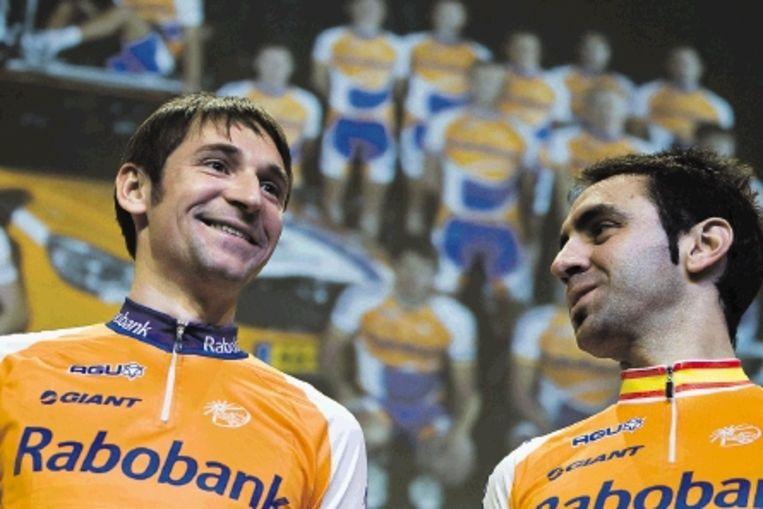 Van Denis Mentsjov (links) wordt veel verwacht. Rechts de Spanjaard lGarate. (FOTO ED OUDENAARDEN, ANP) Beeld ANP