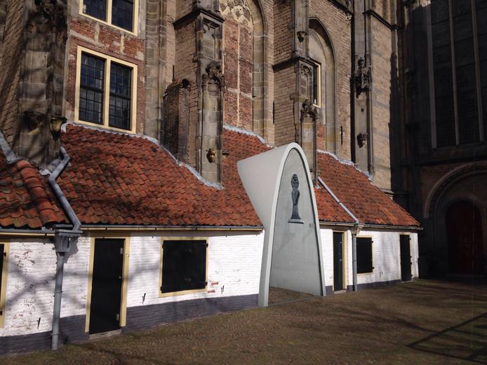 De Oude Mariakerk met een eigen, moderne entree. Aan het Grote Kerkhof.