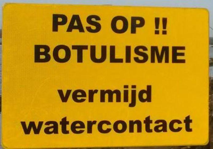 Waarschuwingsbord voor botulisme.