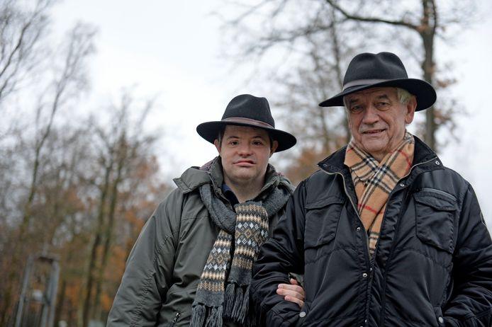 Jan Wegdam met zijn zoon Rogier.