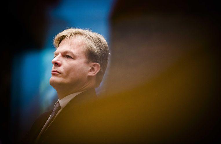 Kamerlid Pieter Omtzigt (CDA) tijdens de Algemene Financiële Beschouwingen in de Tweede Kamer. Beeld ANP
