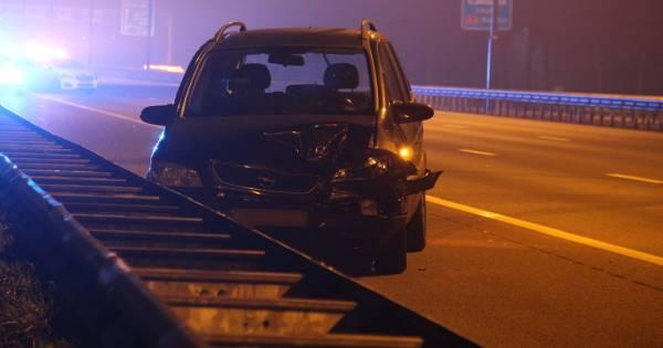 Gewonde bij botsing tussen twee autos op A2 bij Boxtel.
