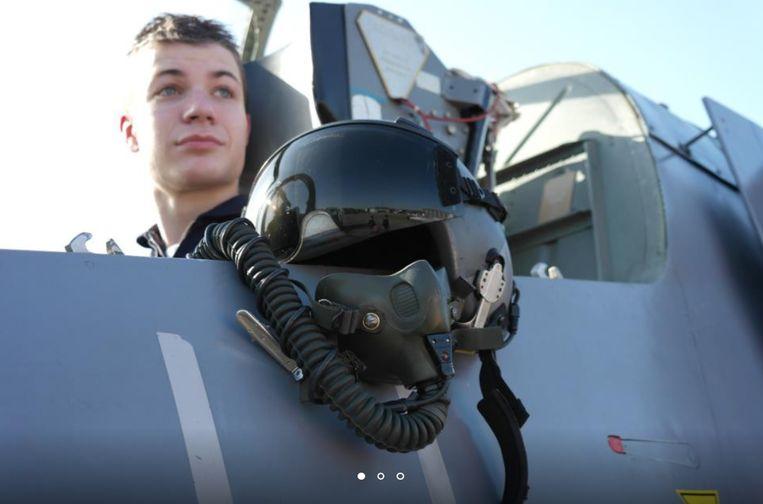 Rowin Hellings tijdens een training voor zijn ruimtereis.