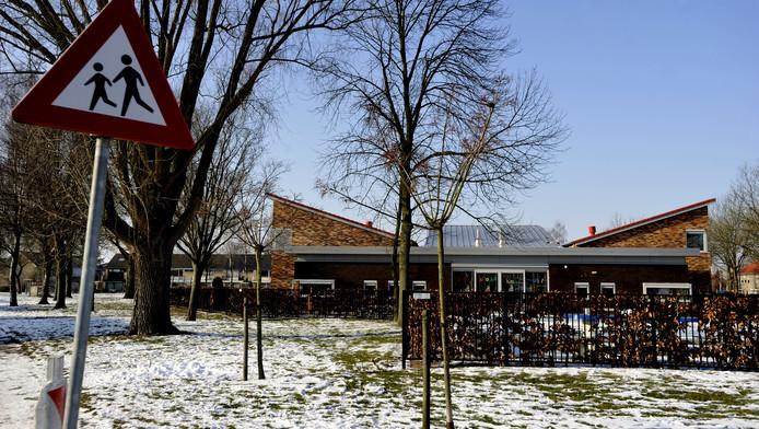 De plek in Oudenbosch waar vorige week het 5-jarige meisje werd ontvoerd.