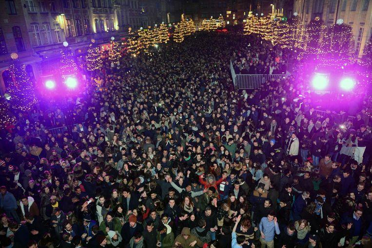 Tijdens de vorige editie telden 12.000 feestvierders af naar het nieuwe jaar.