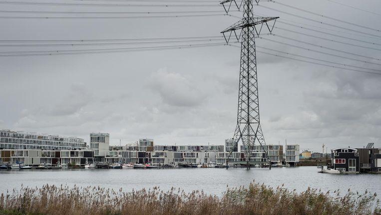 Steigereiland op IJburg, een van de weinige stukken nieuw grondgebied van de stad. Beeld Mats van Soolingen