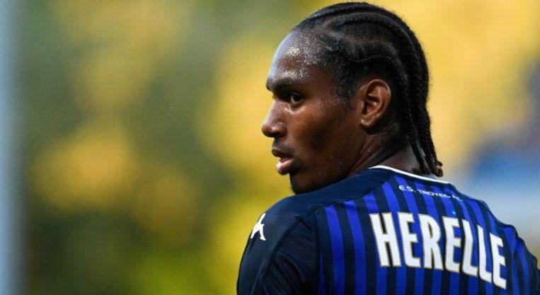 Christophe Hérelle, verdediger van Troyes waarop Anderlecht, Club Brugge, Huddersfield en Nice een oogje op heeft.