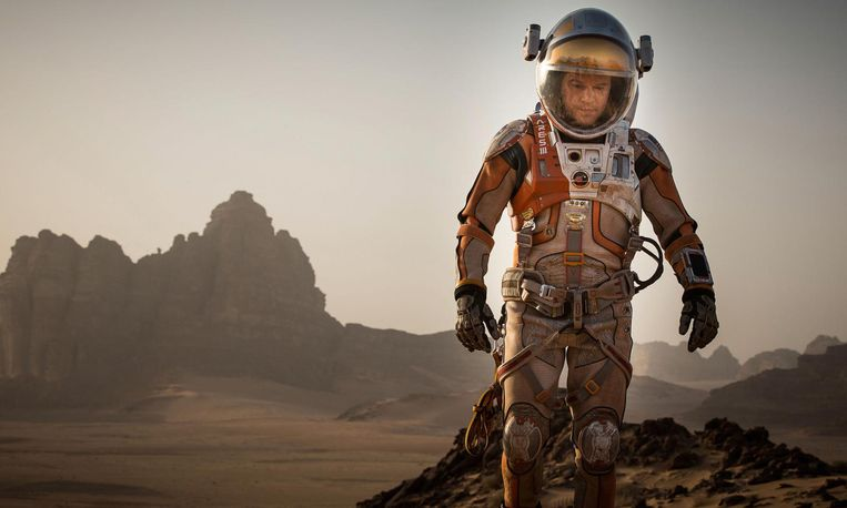 Matt Damon in The Martian. Beeld