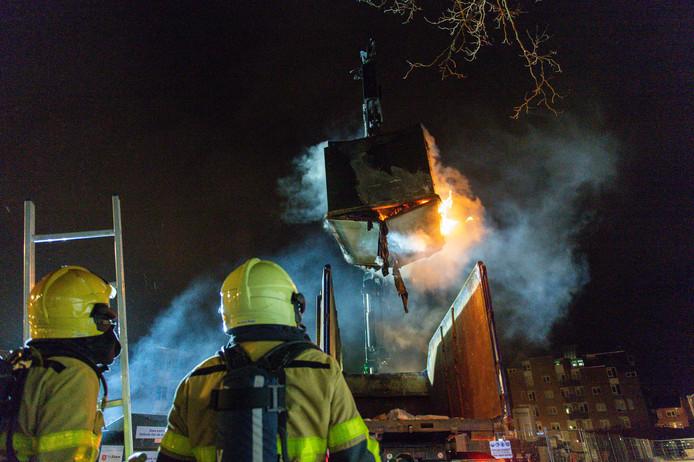 De brand heeft kort maar hevig gewoed.