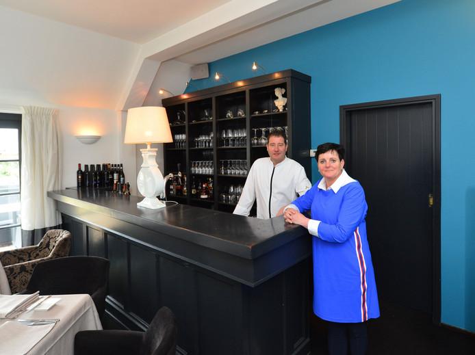 Martino en Loes Verbruggen in restaurant De Meulen in Oirschot.