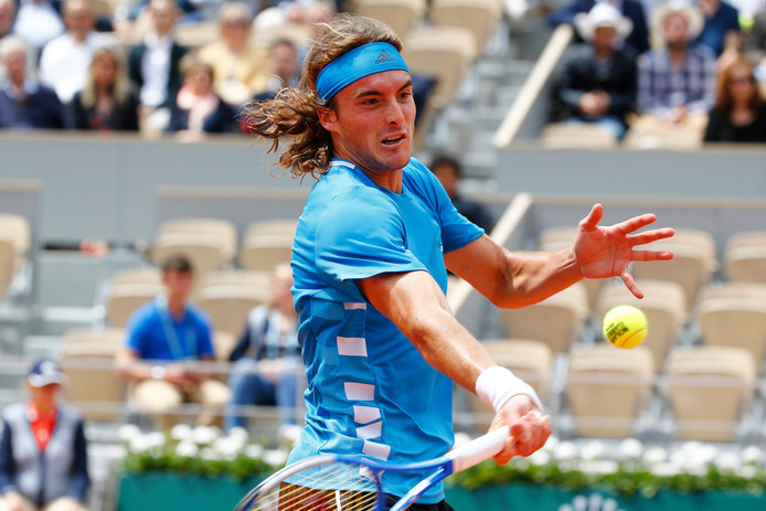 PARIS, FRANCE - MAY 26 : Stefanos Tsitsipas (Gre) during the first round of the French Open of Roland-Garros , on May 26, 2019 in Paris, France. (Photo by Jimmy Bolcina/Photonews***
