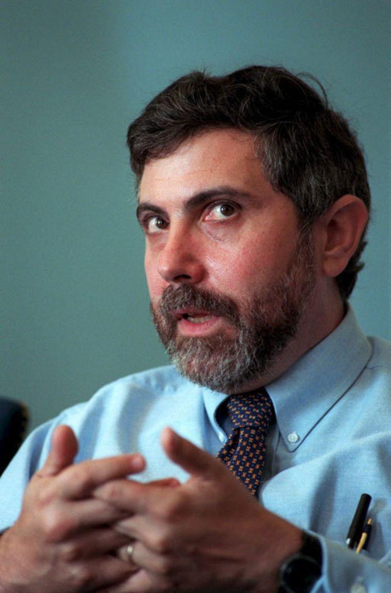 Krugman is verbonden aan de Princeton University en staat bekend als een criticus van de huidige Amerikaanse president Bush. Foto EPA Beeld