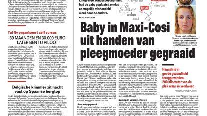 Baby in Maxi-Cosi uit handen van pleegmoeder gegraaid