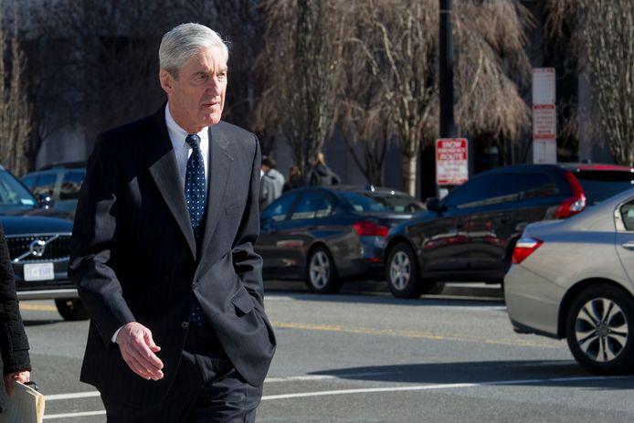 Robert Mueller gisteren in Washington.
