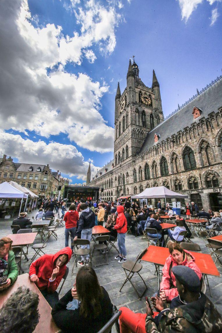 Cultuurfestival Mozaïek op de Grote Markt.