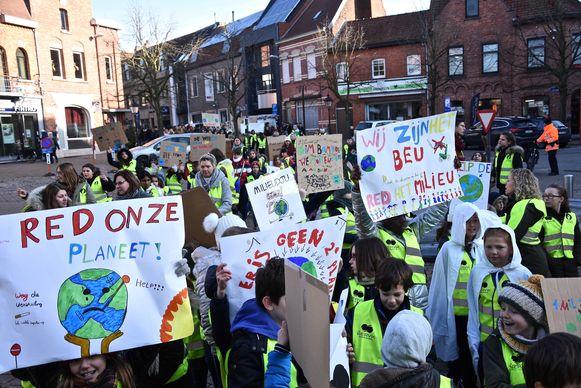 Het Gemeenschapsonderwijs pakte enkele weken geleden in Wervik uit met een klimaatmars