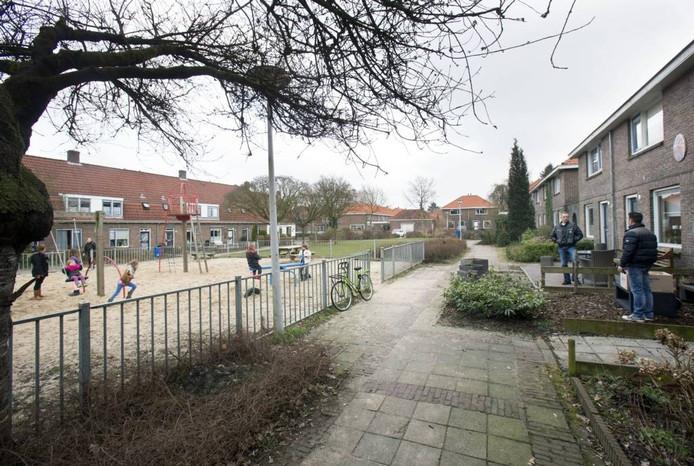 Het Witmondplein in de Wageningse wijk Patrimonium. Foto: Herman Stöver