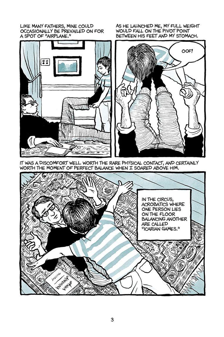 Pagina uit de graphic novel Fun Home. Beeld