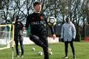 NEC-speler Ole Romeny bij Oranje Onder 19.