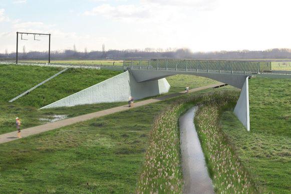 Zo kan het waterpark in de weides tegenover de Prinshoeveweg er gaan uitzien.