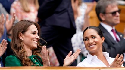 Kate en Meghan maken einde aan geruchten over ruzie tijdens vrouwenfinale Wimbledon