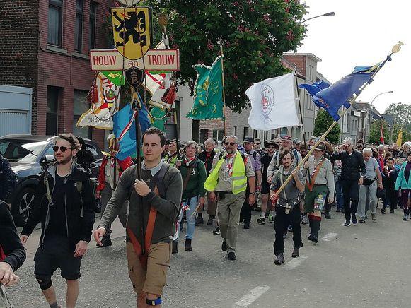 Zo'n 300 wandelaars bereikten Scherpenheuvel vanuit Antwerpen.