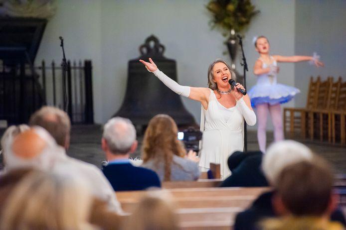Els Pfann had ruim voor corona de Catharijnekerk gereserveerd voor een groot concert. Bij de try-out zaterdag mochten echter maar 30 mensen zijn.