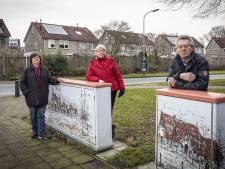 Corona zorgt voor extra kasten met boerderijtekening in Hengelose wijk