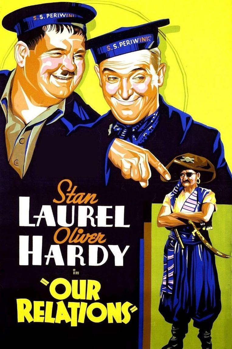 Laurel & Hardy Filmposter Beeld -