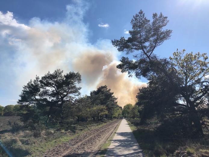 Natuurbrand Veluwe, bij Epe,