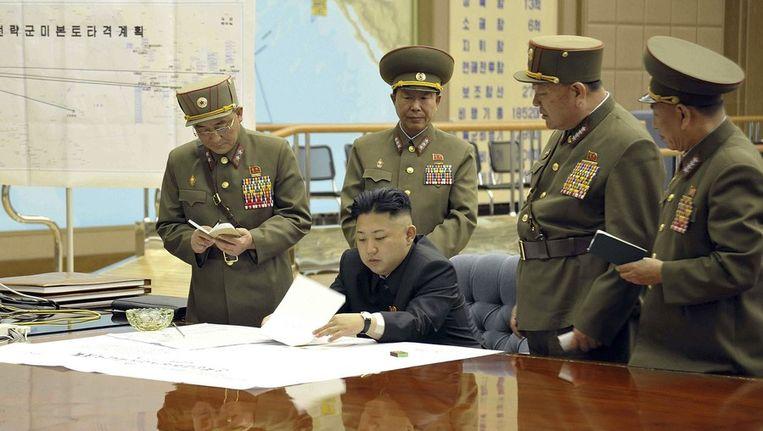 Leider van Noord-Korea Kim Jong-un. Beeld afp