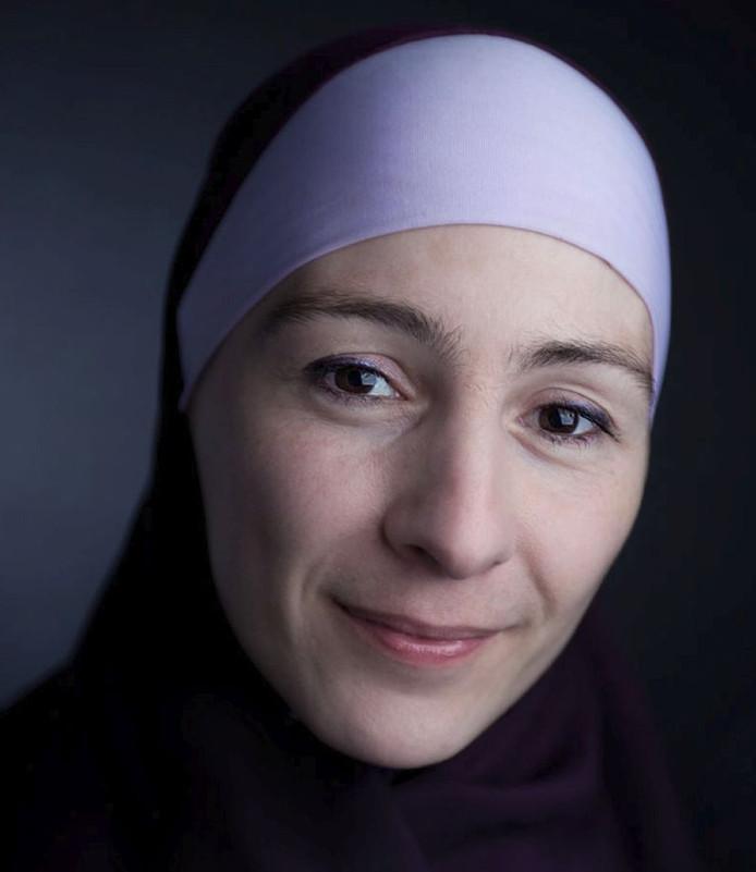 Mariam Aaras uit Apeldoorn van het Voorlichtingsbureau Halalvoeding.