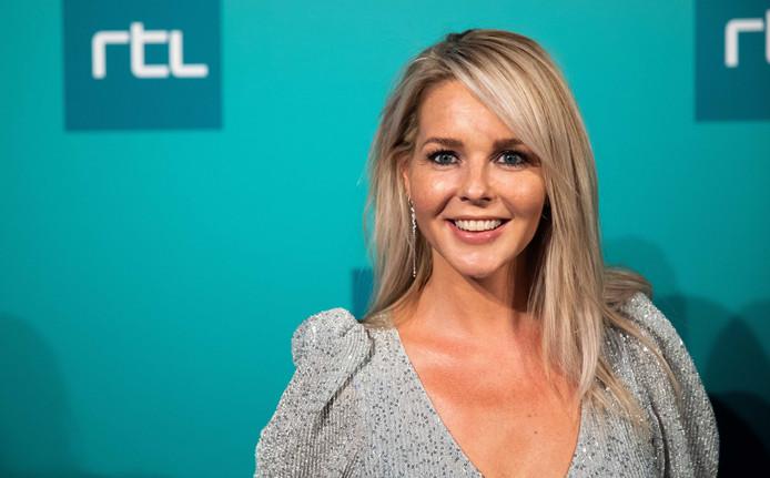 Portret van Chantal Janzen tijdens RTL FestiFall, de presentatie van RTL-programma's voor dit najaar.