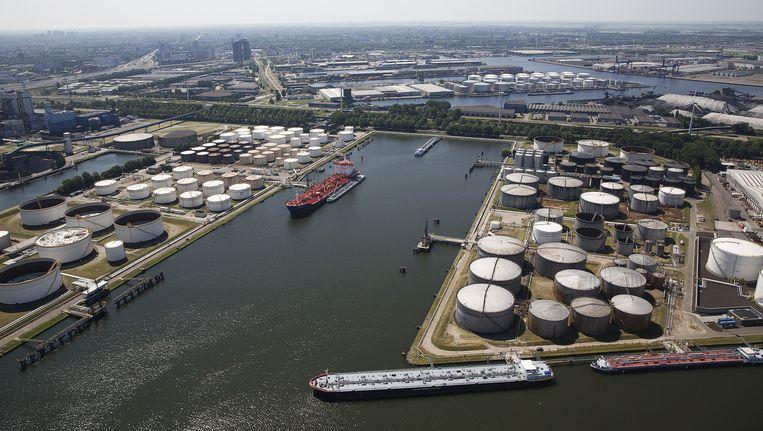 Een luchtfoto van de Amsterdamse haven. Beeld anp